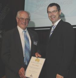 Harry Wragge with Senator Stephen Conroy