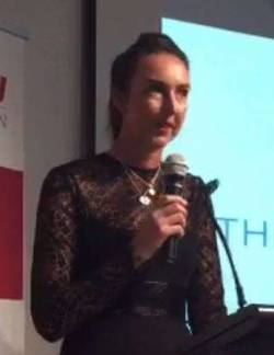 Ms Jo Burston giving 2017 Pearcey Oration